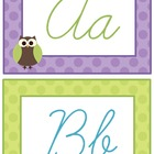 Owls on Dots Cursive 'Owl'phabet