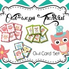 Owlways Thankful {Owl Themed Cards}