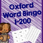 Oxford Word Bingos (1-200) - Sight Words NSW Foundation Script