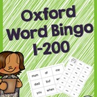 Oxford Word Bingos (1-200) - Sight Words