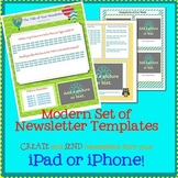 PAGES Modern Newsletter Template Set - Create on the Go Us