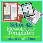 PAGES Set of 42 Newsletter Templates - Create on the Go Us