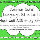 PARCC 4th Grade Common Core Language Word Wall/Test Study