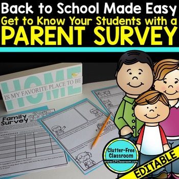 PARENT SURVEY: TELL ME ABOUT YOUR CHILD - {Blackline Desig