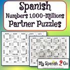 PARTNER PUZZLES-Numbers 1000 to Millions