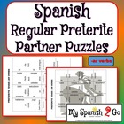 PARTNER PUZZLES--Spanish Preterite Tense -ar verbs