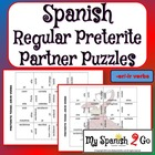 PARTNER PUZZLES--Spanish Preterite Tense --er and --ir verbs