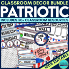 PATRIOTIC Theme EDITABLE Classroom Essentials-34 Printable