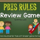 PBIS - Are You Smarter Than a 5th Grader Powerpoint Game