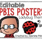 PBIS Classroom Displays (Ladybug Theme)