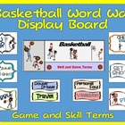 Basketball Word Wall Display: Skill, Graphics & Game Terms