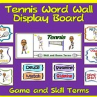 PE Display Board and Word Wall: Tennis