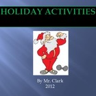PE Holiday Activities
