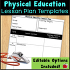 PE Lesson Plan Template