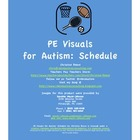 PE Visuals for Autism: Schedule