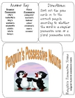 PENGUIN'S POSSESSIVE NOUNS File Folder Game Singular & Plural