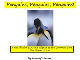 PENGUINS WITH PIZZAZZ!  A COMMON CORE ELA UNIT/NON-FICTION