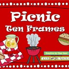 PICNIC Ten Frame Clip Art {Ant BBQ Lemonade} 0-10 Common C