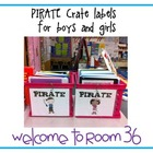 PIRATE binder crate labels