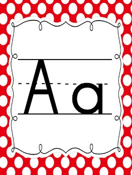 POLKA DOT ALPHABET Set red edition