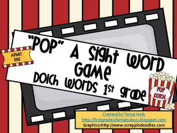 POP! 1st Grade Sight Word Game