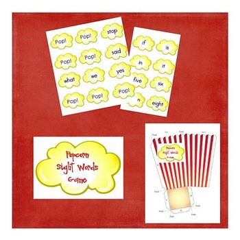 POP: A Sight Words Game
