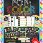 POP of color organizational and classroom decor kit for teachers