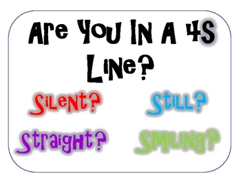 POSTER- Are you standing in a 4S Line?