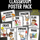 POSTERS Engineering Design Process 2 Versions - Upper Grades 3-6