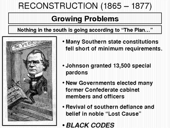 POWERPOINT - Reconstruction (Amendments, Politics, People)