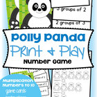 Multiplication Game - Polly Panda - Math Center Activity