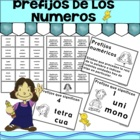 PREFIJOS DE LOS NUMEROS - Spanish Math Games, and Lesson Plans