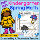 PREP LESS Kindergarten Spring Math {Over 25 Activities!}
