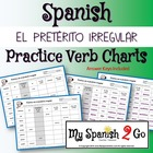 PRETERITE:  Irregular Preterite Practice Conjugating Verb Charts