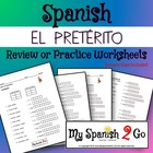 PRETERITE Review or Practice Worksheet 