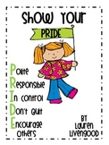 PRIDE for Character Education {Freebie}