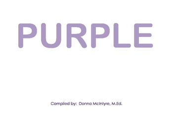 PURPLE - a color booklet