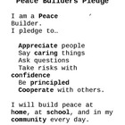 PYP Peace Builders Pledge