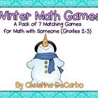Pack of 7 Winter Math Games for Independent Practice and Centers