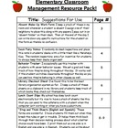 Pack of Classroom Management Resources!
