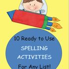 Packet of 10 Spelling activities to use with your LIST
