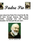 Padre Pio Lesson Plans