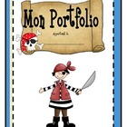 Page couverture pour le portfolio