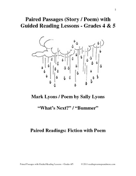 Paired Passages (Story /Poem) with Guided Reading Lessons