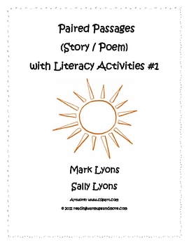 Paired Passages (Story/Poem) with Literacy Activities - Set 1