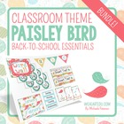 Paisley Bird Theme Classroom Decor & Back-to-School Essent