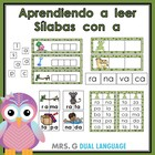 Palabras con a. Aprendiendo a leer slabas con a. Spanish