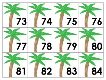 Palm Tree Numbers 1-100
