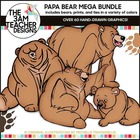 Papa Bear Clip Art Collection