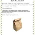 Paper Bag Booktalks (fiction)